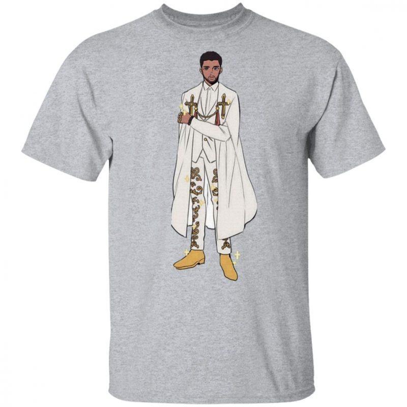 Chadwick Boseman Wearing Versace Shirt
