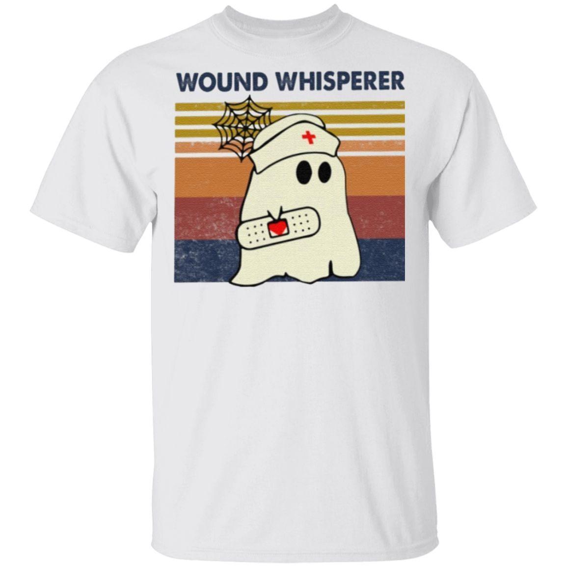 Wound Whisperer Nurse Boo Ghost t shirt