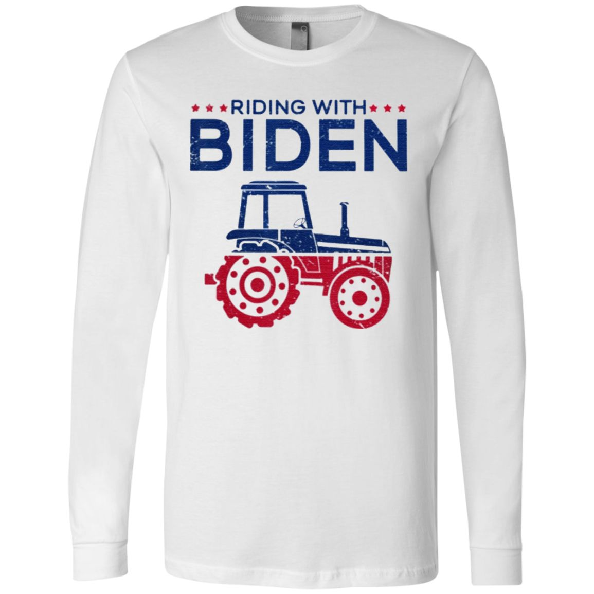 Tractor Operator Farmer Joe Biden 2020 USA Ladies T-Shirt