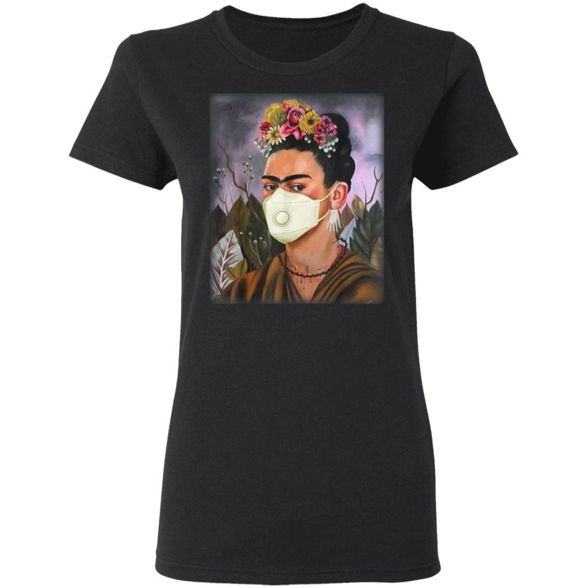 Frida Mask Kahlo Art Girl Women T-Shirt