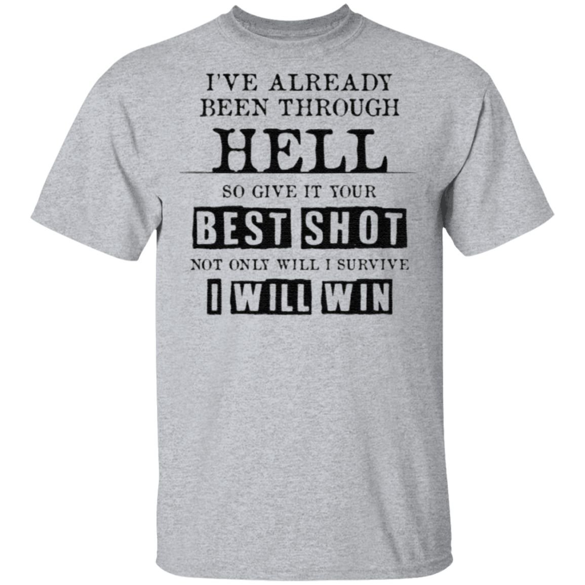 I've Already Been Through Hell So Give It Your Best Shot T Shirt