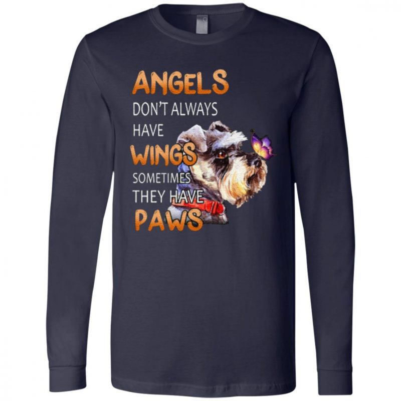 Angels Don't Always Have Wings Sometimes They Have Paws T Shirt