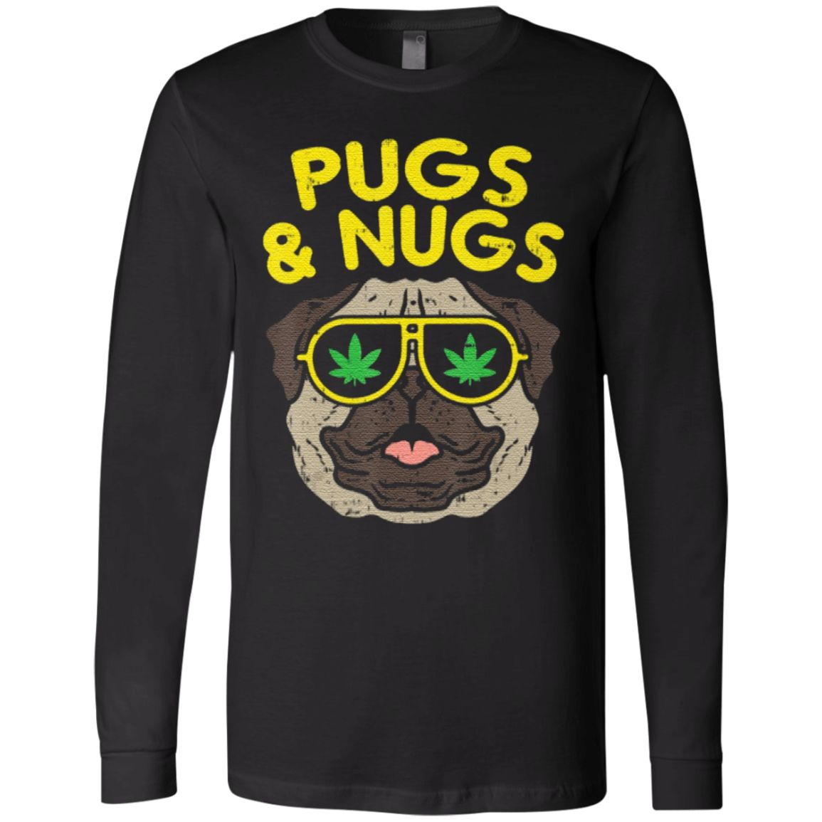 Pugs And Nugs Weed Cannabis 420 Smoking T Shirt