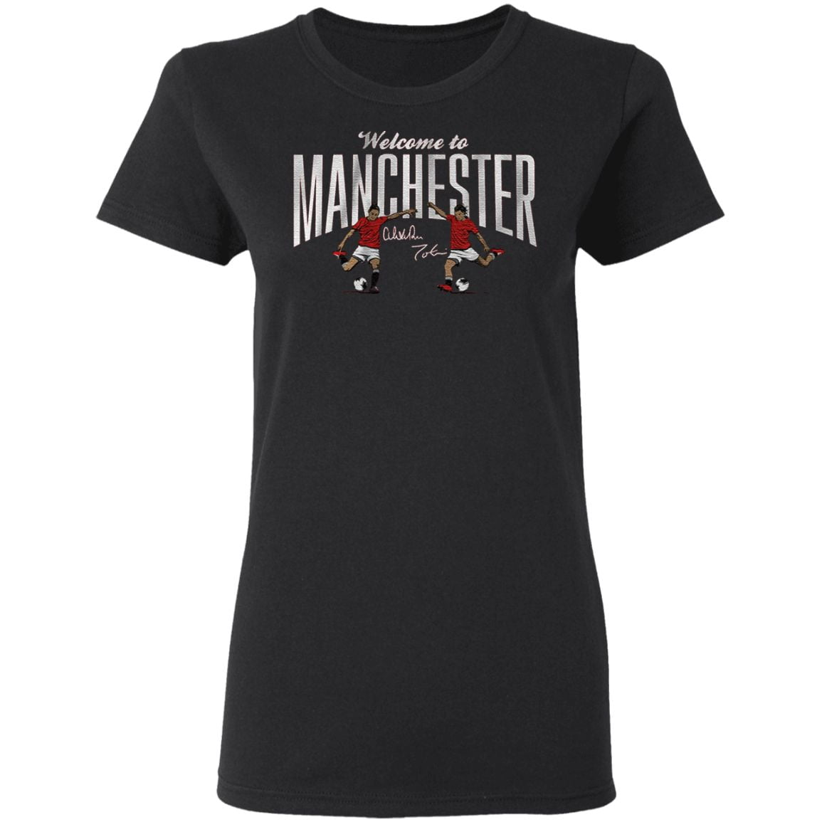 welcome to manchester red t shirt
