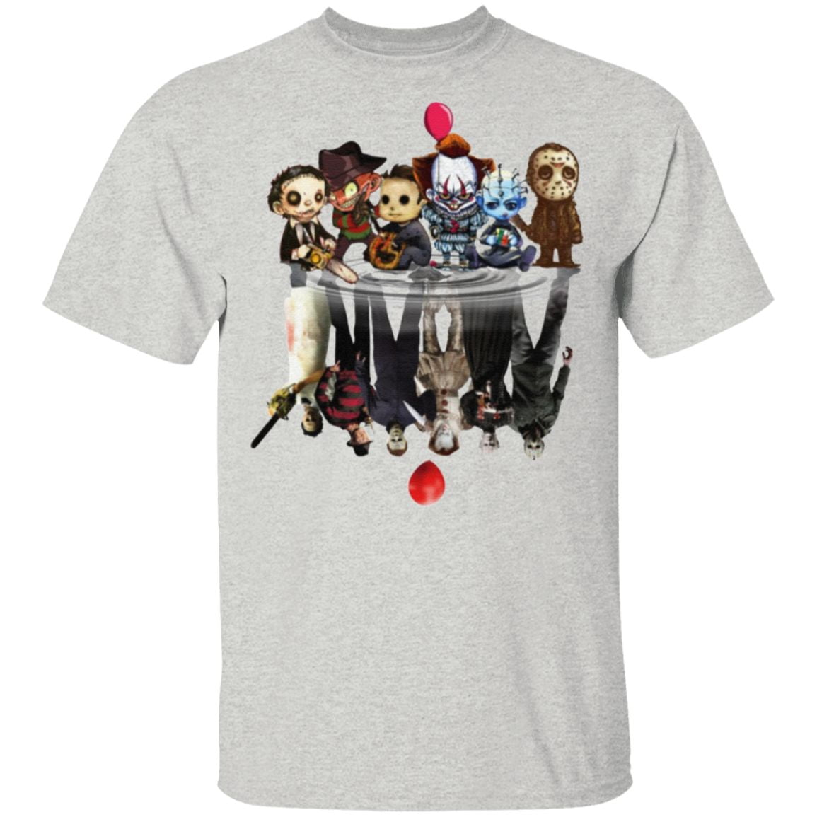 Horror Characters Reflect Halloween T Shirt
