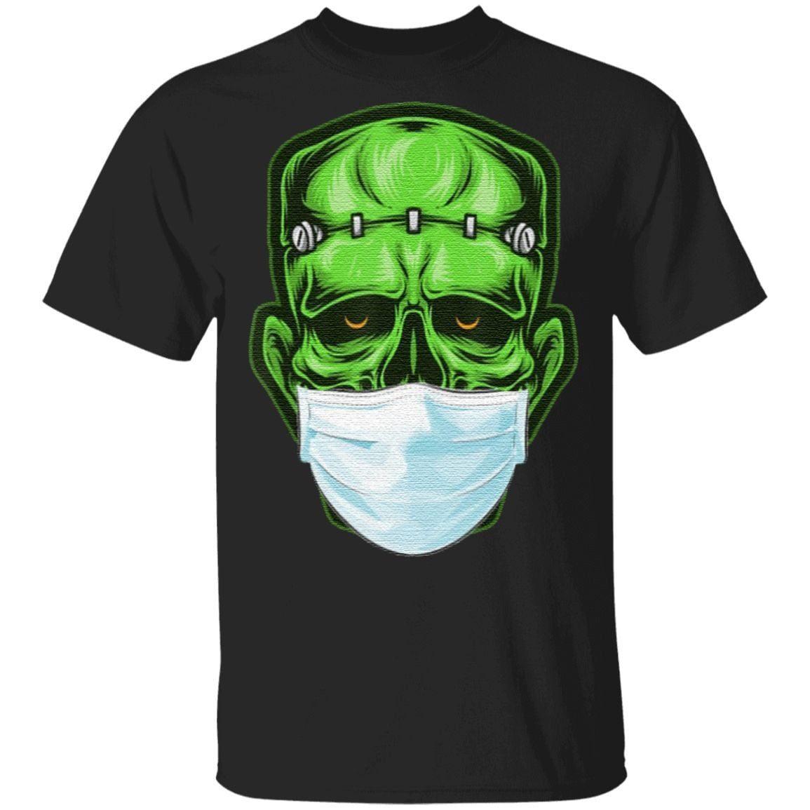 Monster Zombie Mask Halloween T Shirt