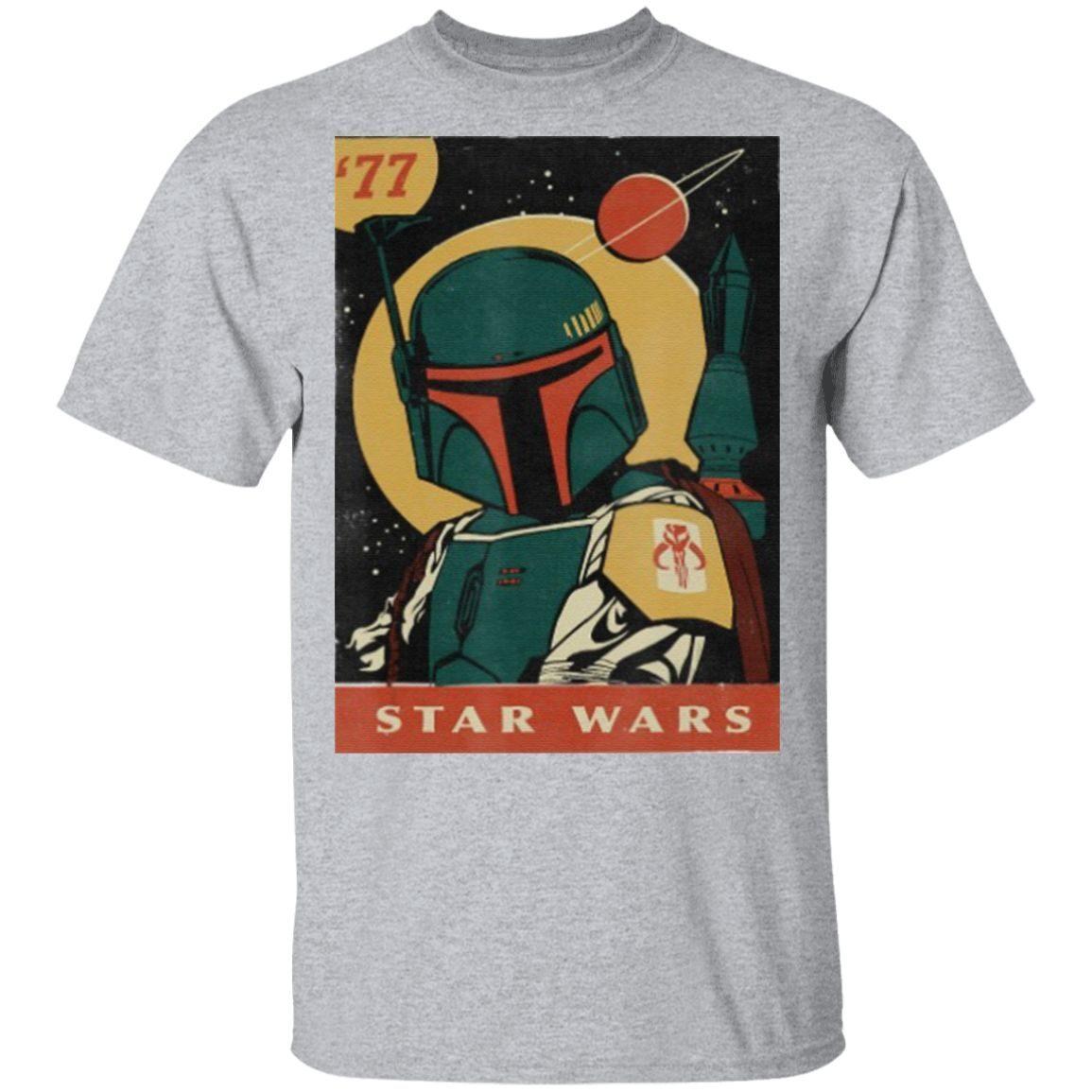 Star Wars Boba Fett Vintage Trading Card '77 T Shirt