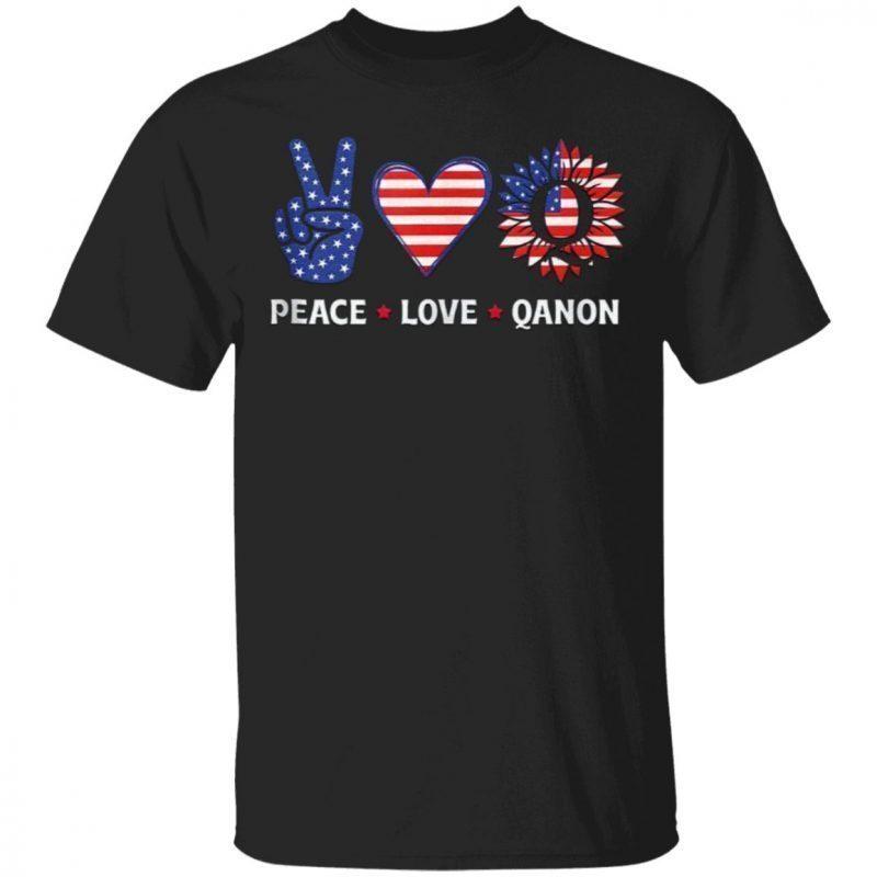 WWG1WGA Peace Love Qanon Shirt