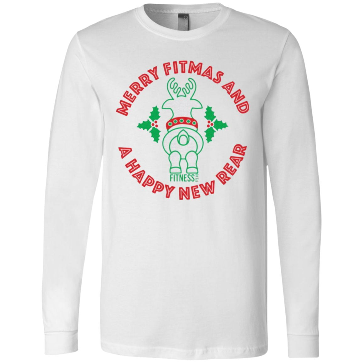 Merry Fitmas and A Happy New Rear t shirt