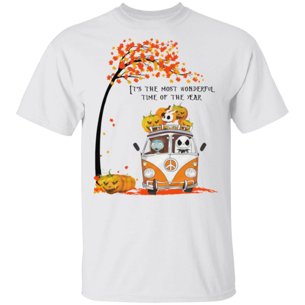 It's The Most Wonderful Time Of The Year Jack Skellington Sally And Zero T-Shirt