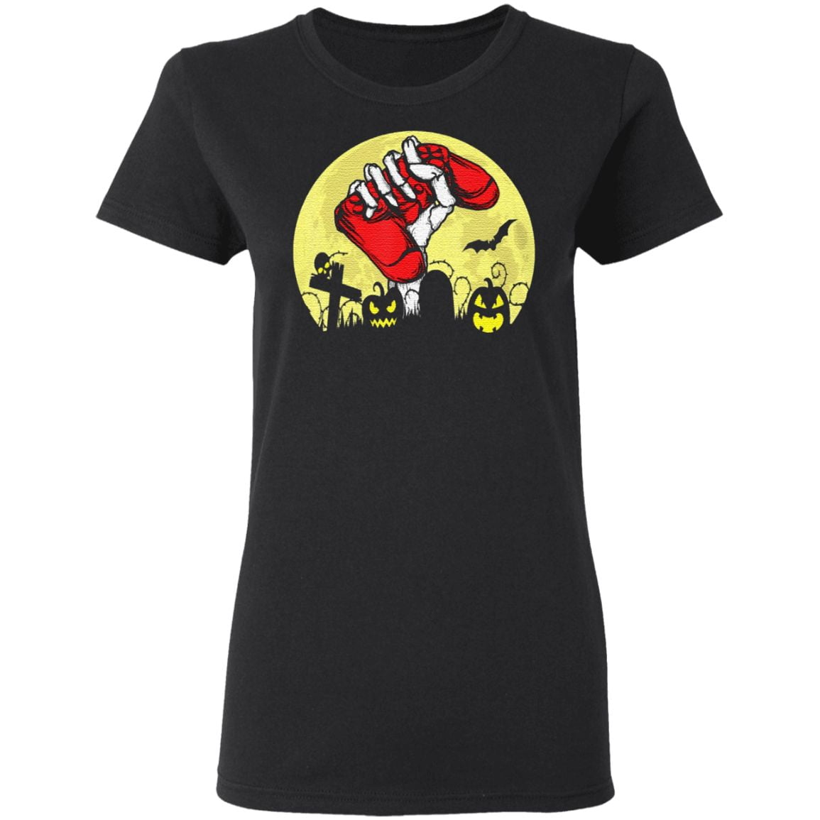 Halloween Skeleton Hand Video Gamer Controllers Classic T-Shirt
