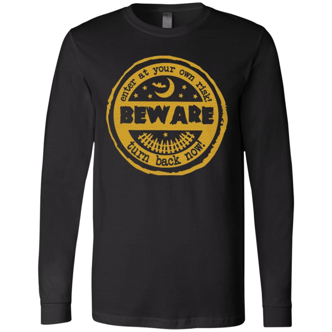 Enter At Your Own Risk Turn Back Now Halloween T Shirt