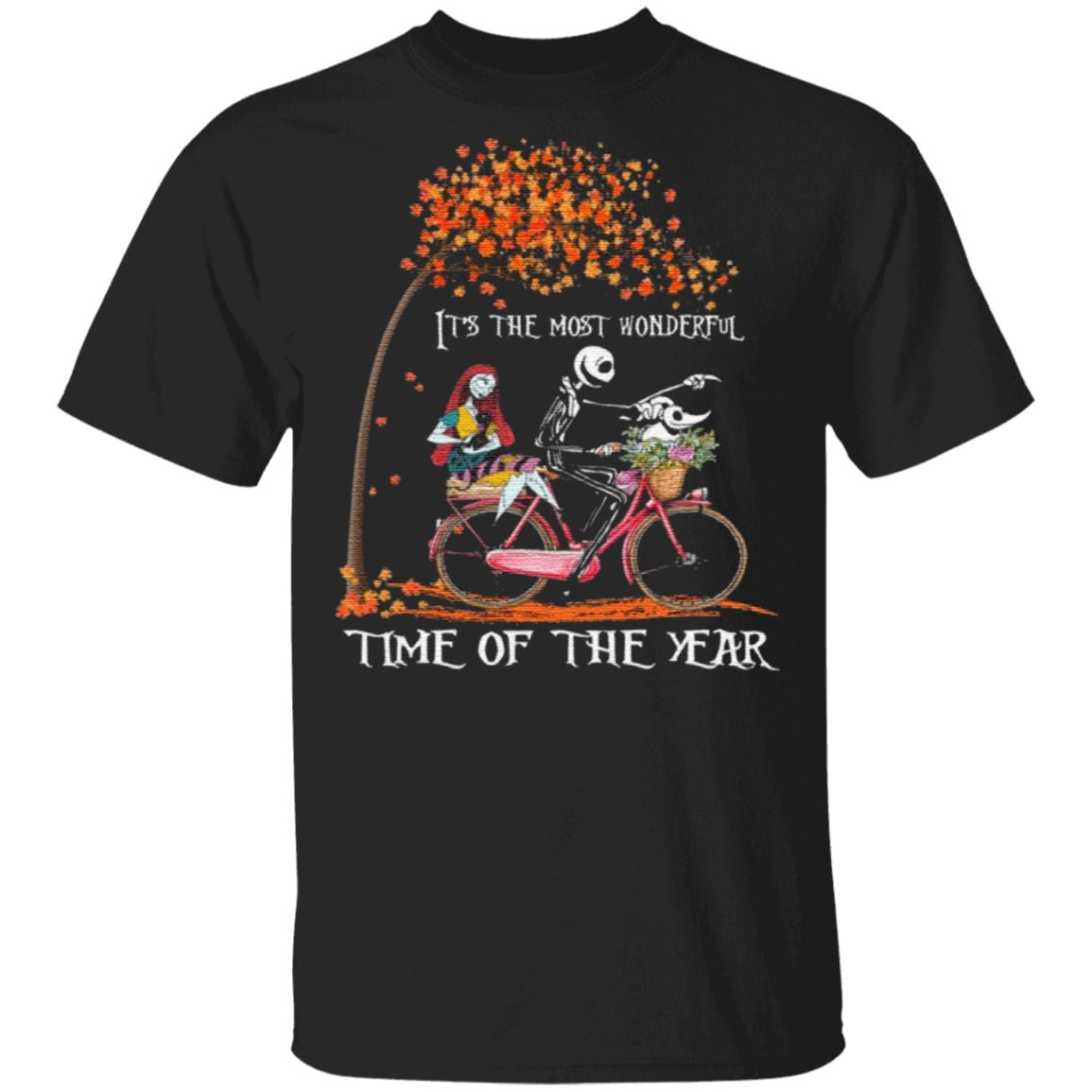 Jack Skellington Sally And Zero It's The Most Wonderful Time Of The Year Halloween T-Shirt