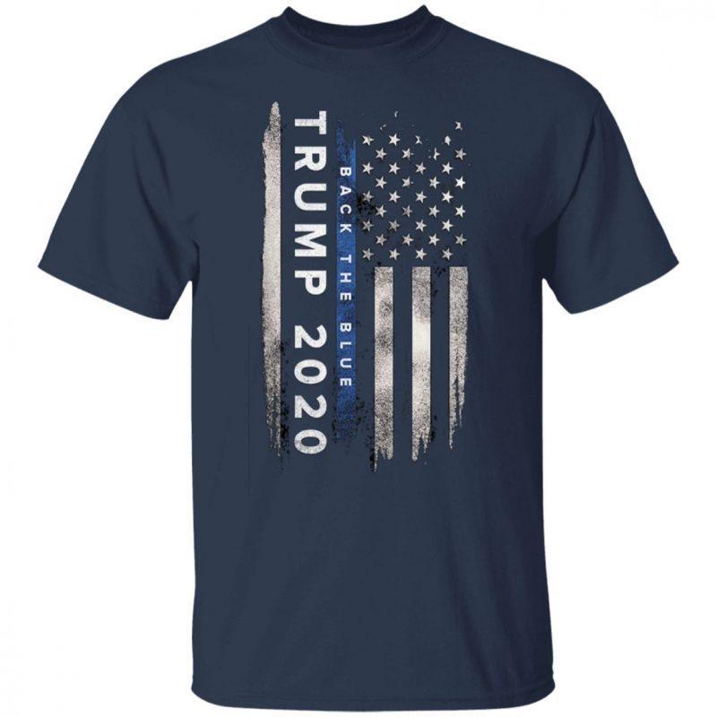 Trump back the blue shirt. Pro Trump Thin Blue Line US Flag T-Shirt