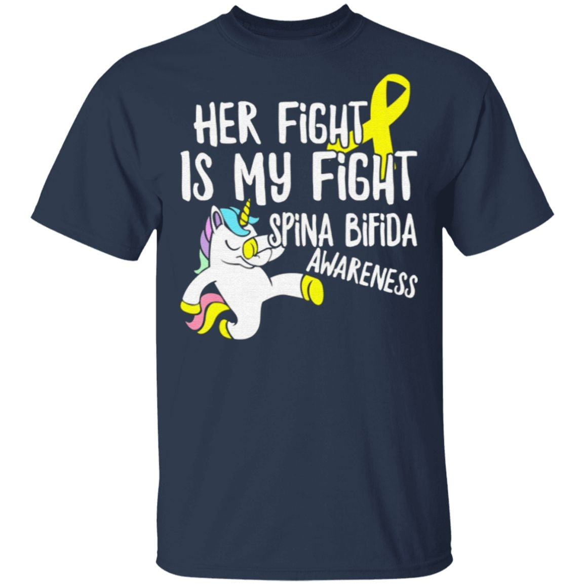 Her Fight Is My Fight Spina Bifida Awareness T Shirt