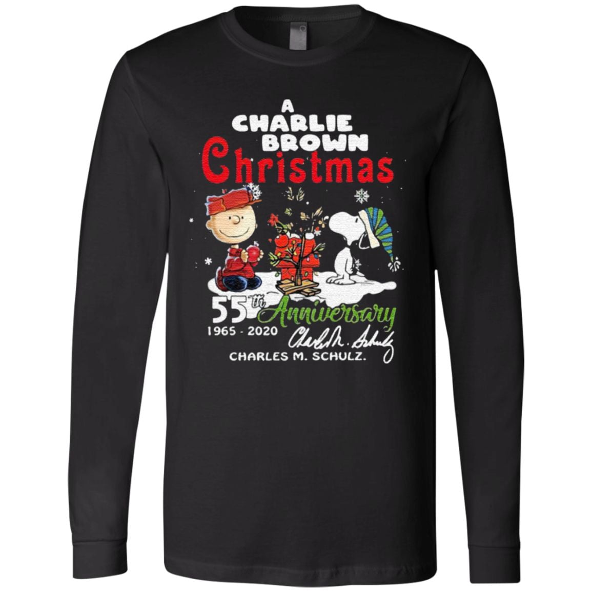 A Charlie Brown Christmas 55th Anniversary 1965-2020 Charles M Schulz Snoopy T Shirt