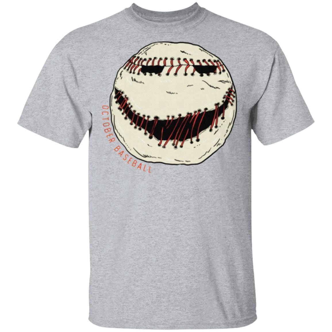 Jack Skellington October Baseball T Shirt