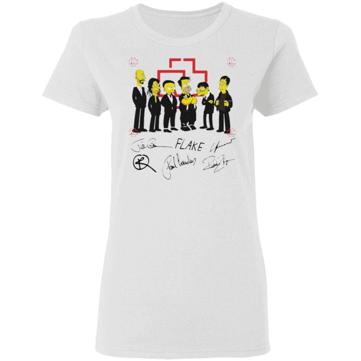 Rammstein Simpsons Flake Signatures T-Shirt