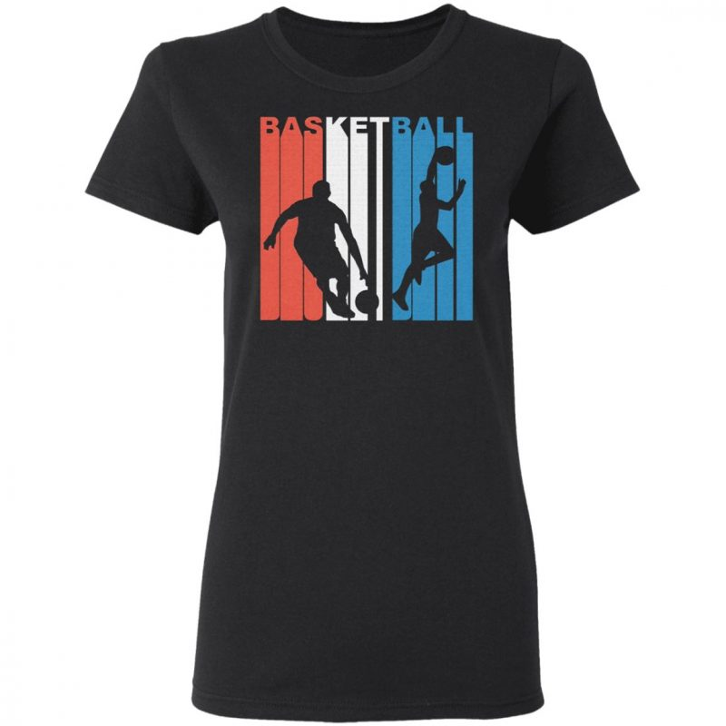 Red White And Blue Basketball Shirt