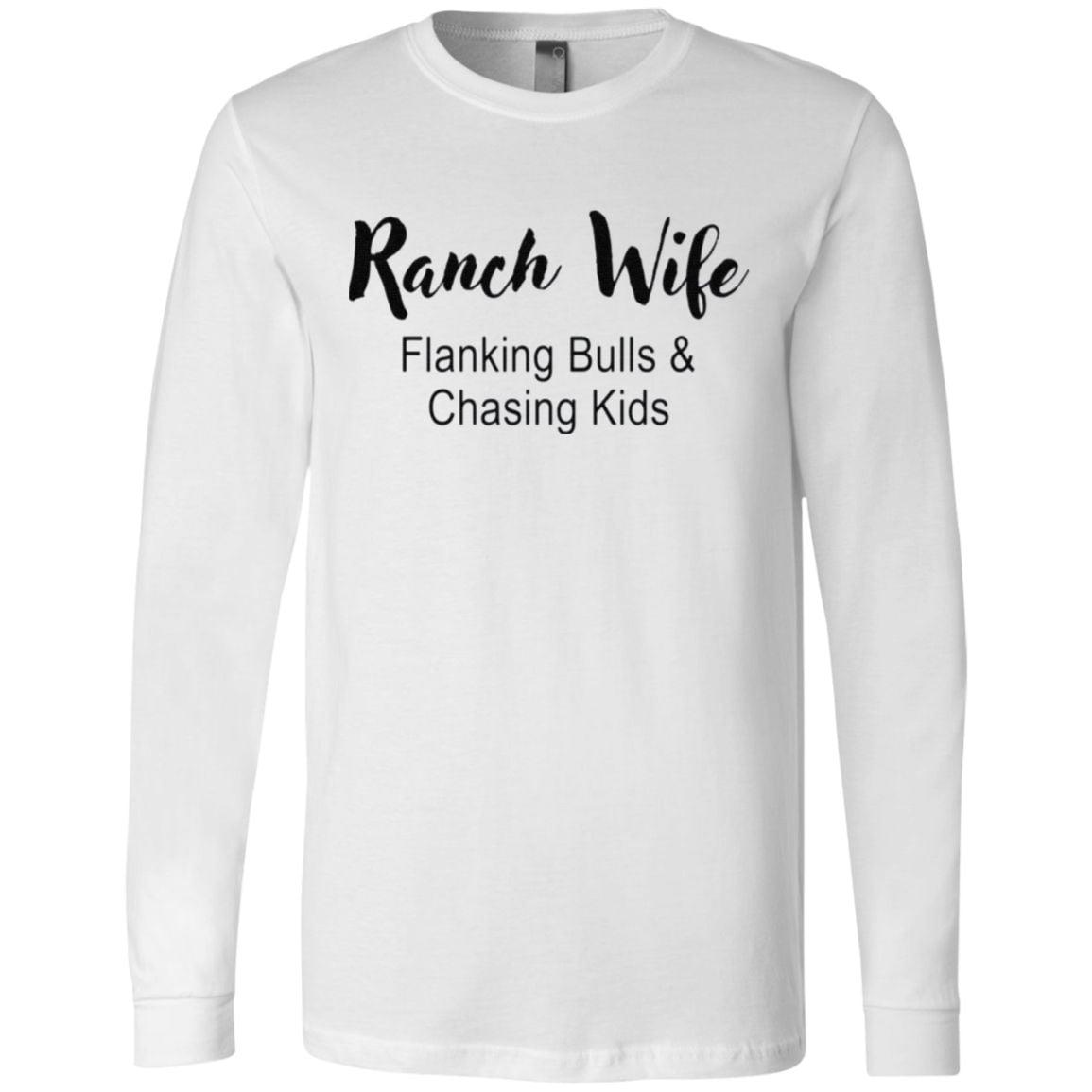 Ranch Wife Flanking Bulls Chasing Kids t shirt