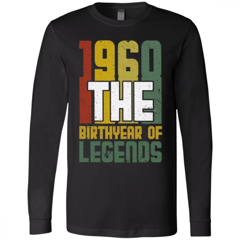 1960 The Birth Year Of Legends T Shirt