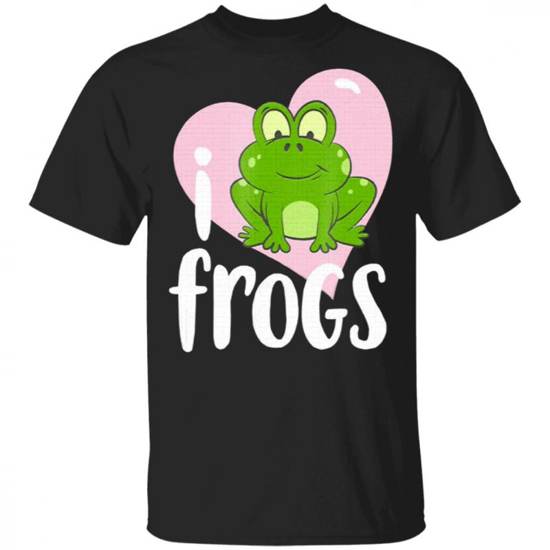 Cute Frog Pink Heart Frog Lover T-Shirt