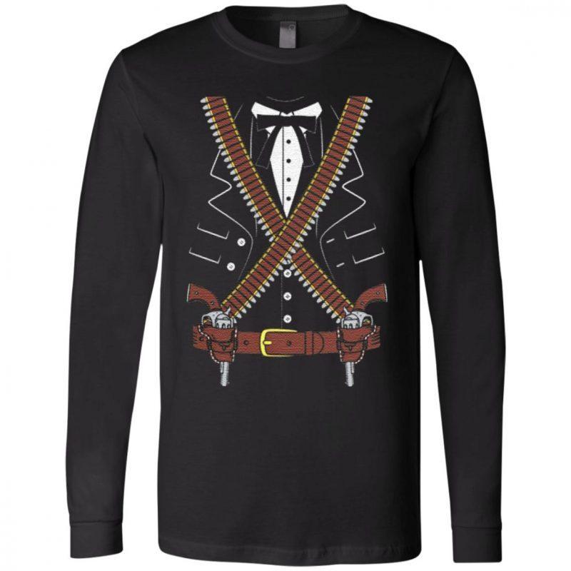 Gunslinger Sheriff With Two Guns Halloween Costume T Shirt