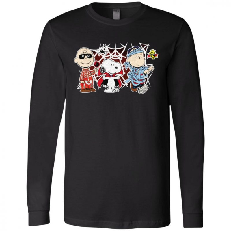 Charlie Woodstock Linus Snoopy Halloween Night Costumes T-Shirt