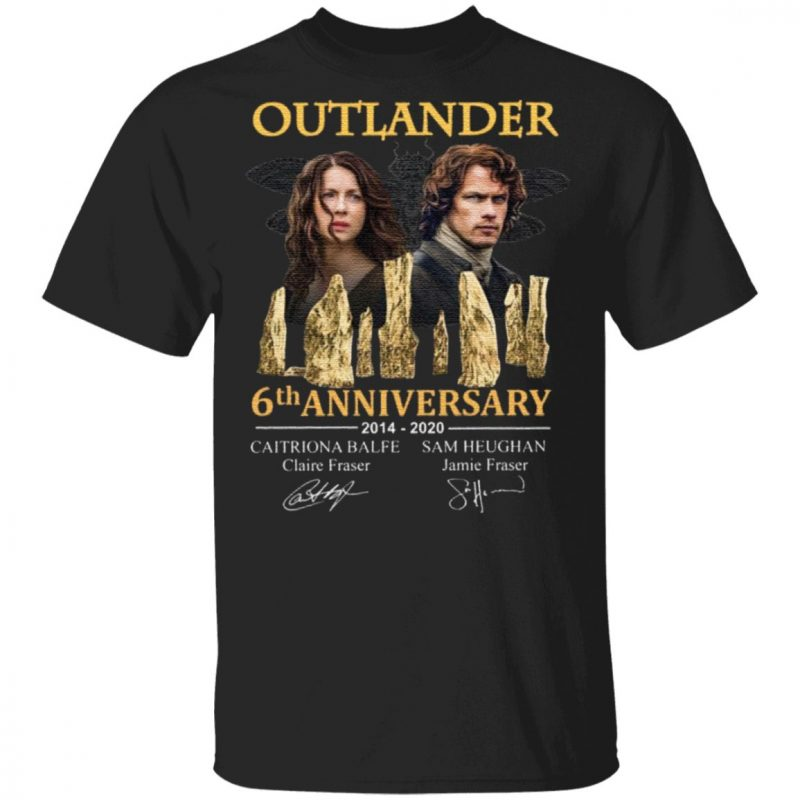 Outlander 5th Anniversary 2014 2020 Signatures T-Shirt