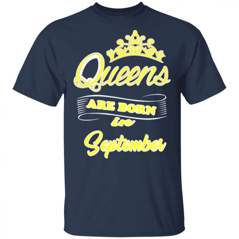 Womens This Queen Was Born In September Womens Black Birthday Shirt