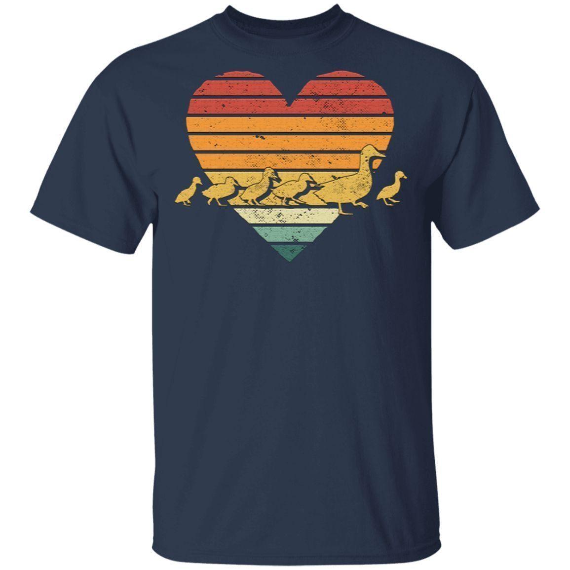 Retro Duck Family Grunge T-Shirt