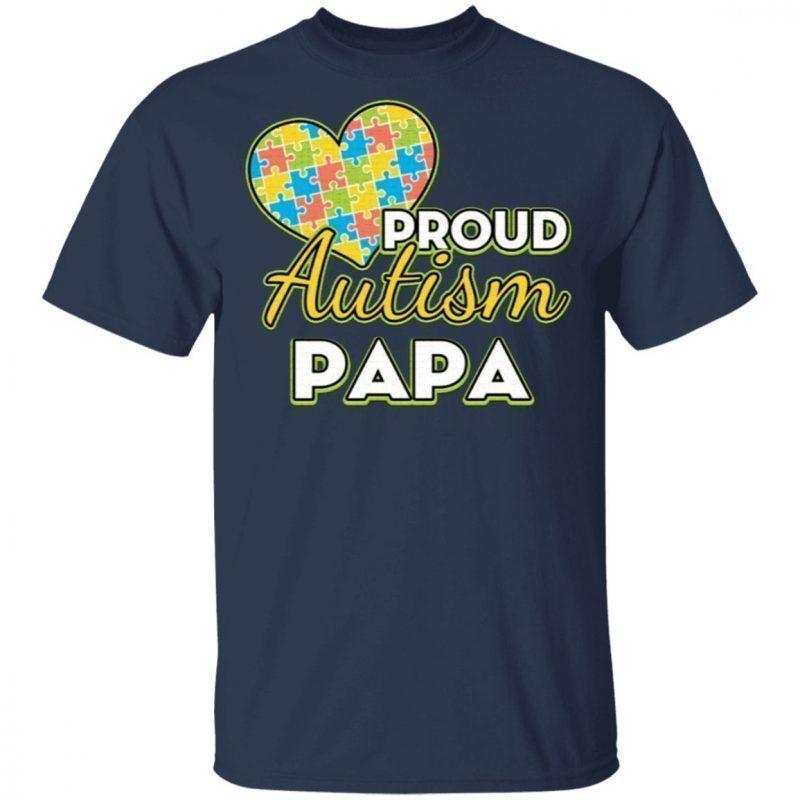 Mens Proud Autism Dad Tshirt Autism Awareness T-Shirt PAPA T-Shirt