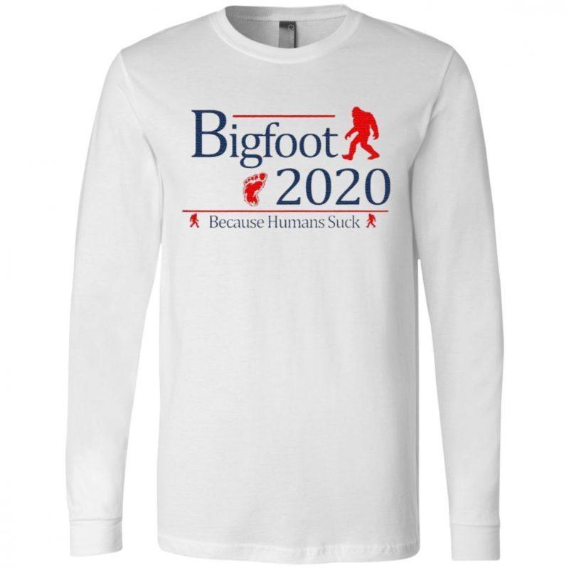 Bigfoot Paw 2020 because Humans Suck t shirt