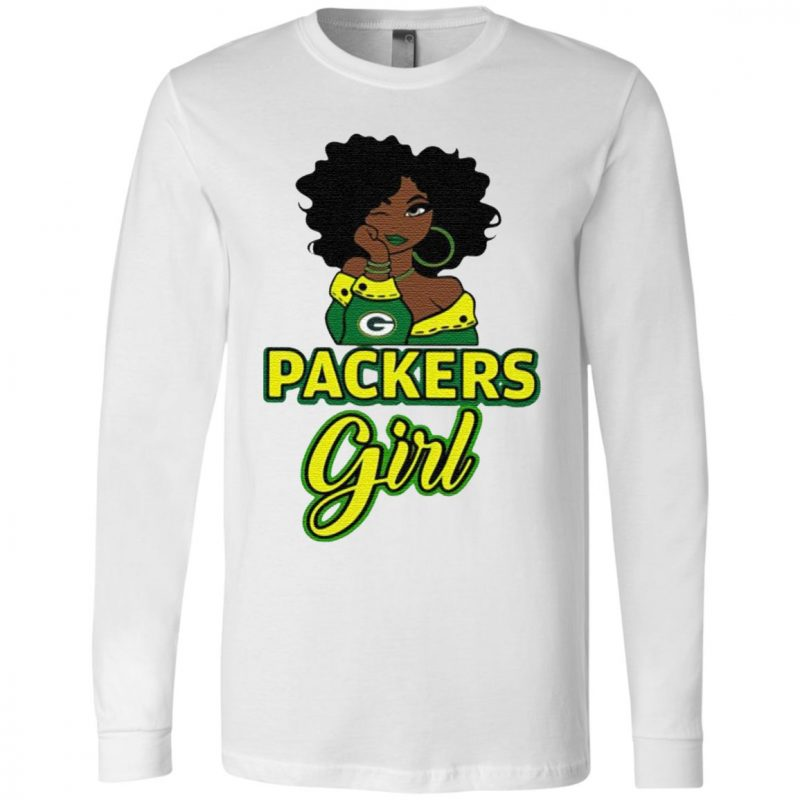 Black Girl Green Bay Packer T Shirt