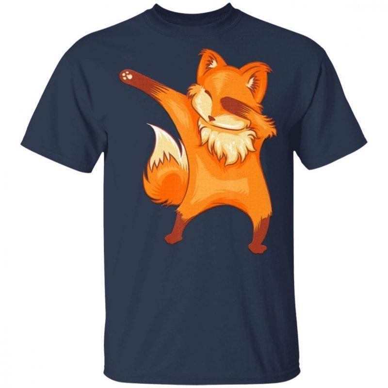 Funny Dabbing Fox Lover Shirt Cool Fox Safari Part Classic T-Shirt