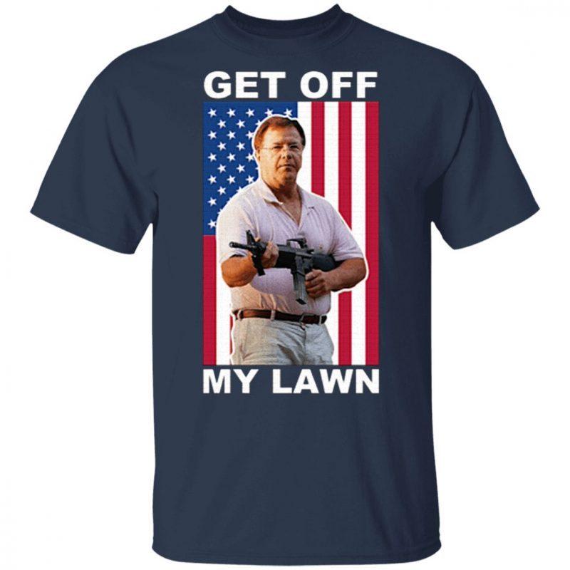 Ken And Karen Get Off My Lawn Us Flag T-Shirt