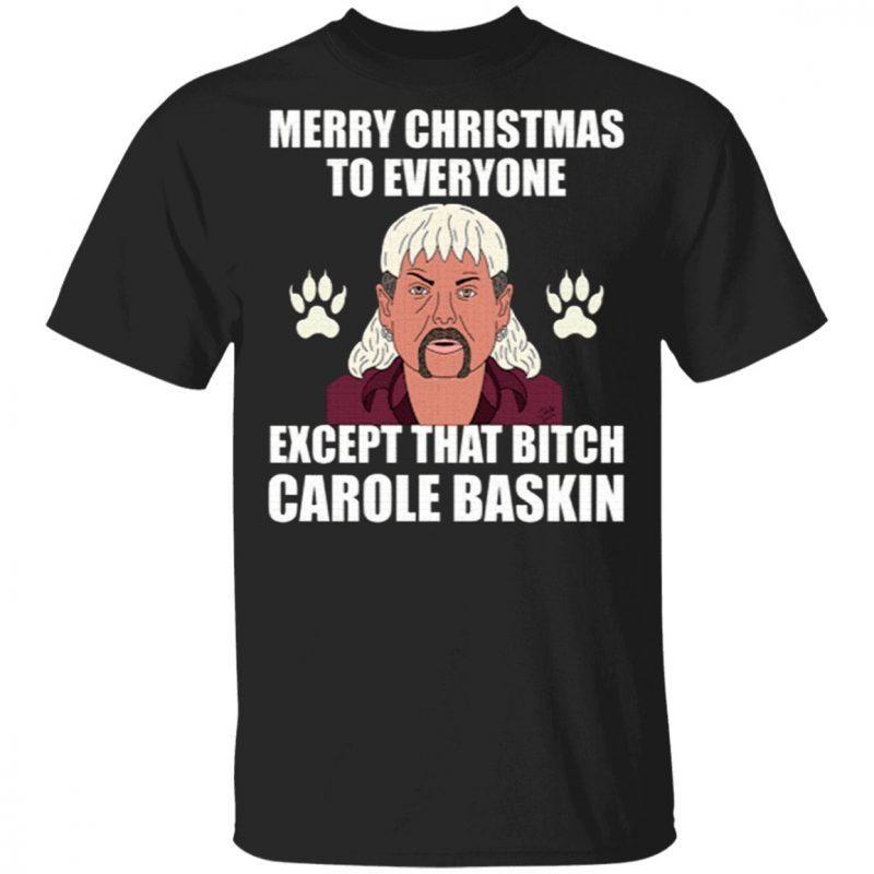 Tiger King Joe Exotic Merry Christmas To Everyone Christmas T-Shirt