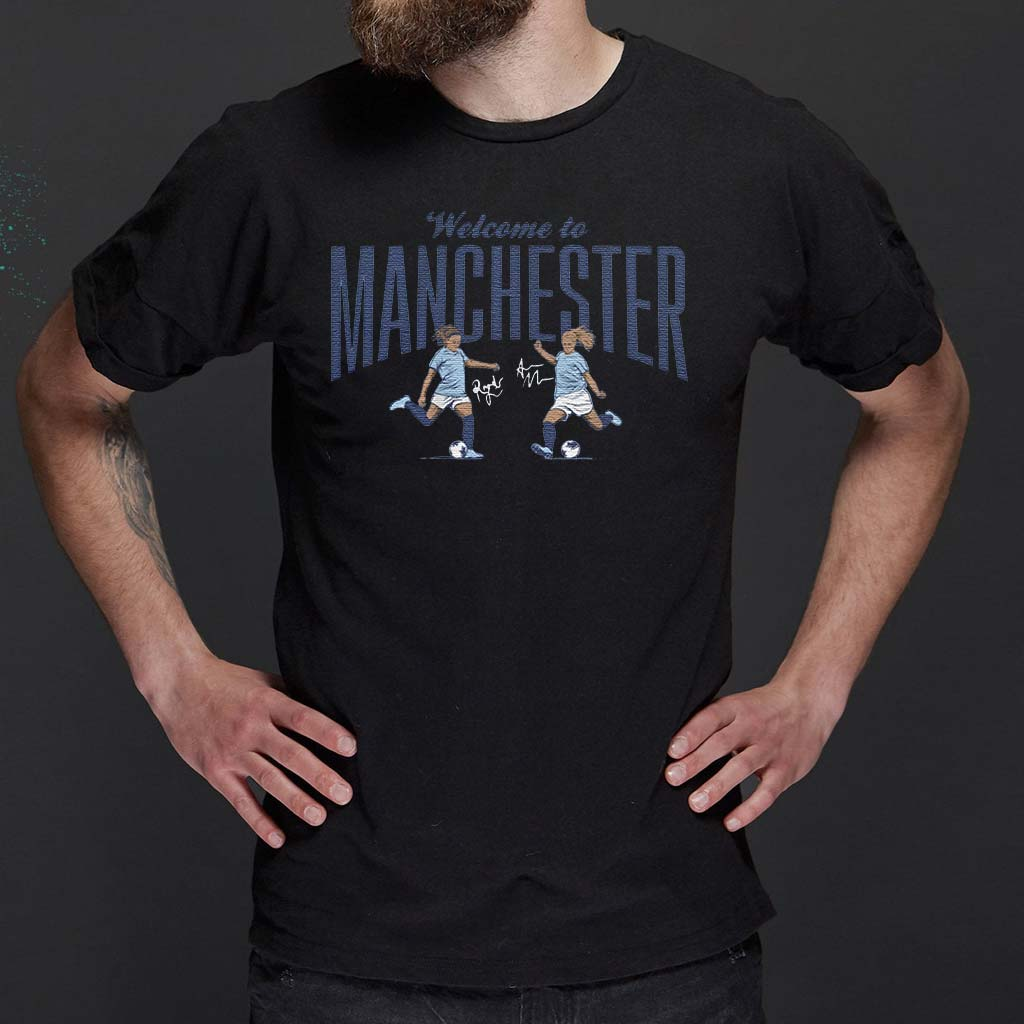 welcome-to-manchester-blue-t-shirt