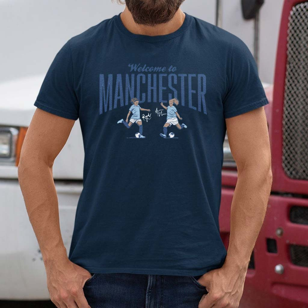 welcome-to-manchester-blue-t-shirts