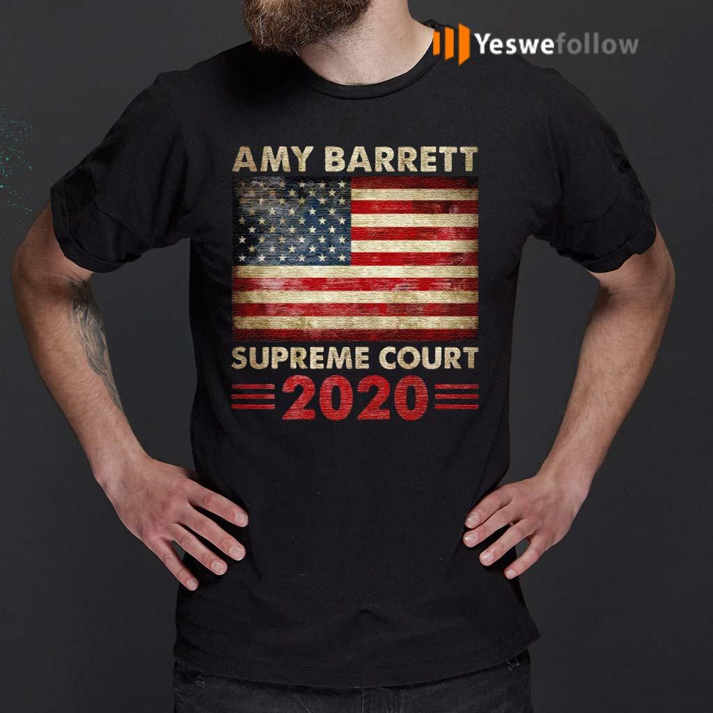 Amy-Barrett-Supreme-Court-2020-American-Flag-T--shirt