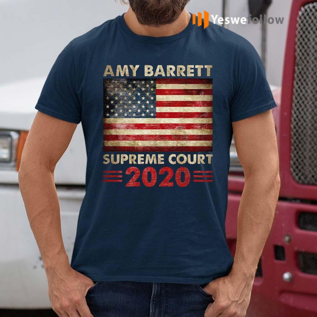 Amy-Barrett-Supreme-Court-2020-American-Flag-T--shirts