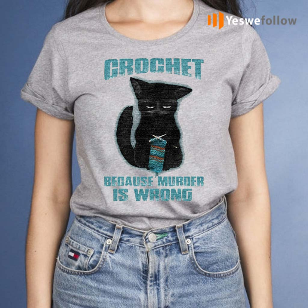 Black-Cat-Crochet-Because-Murder-Is-Wrong-Funny-T-Shirt