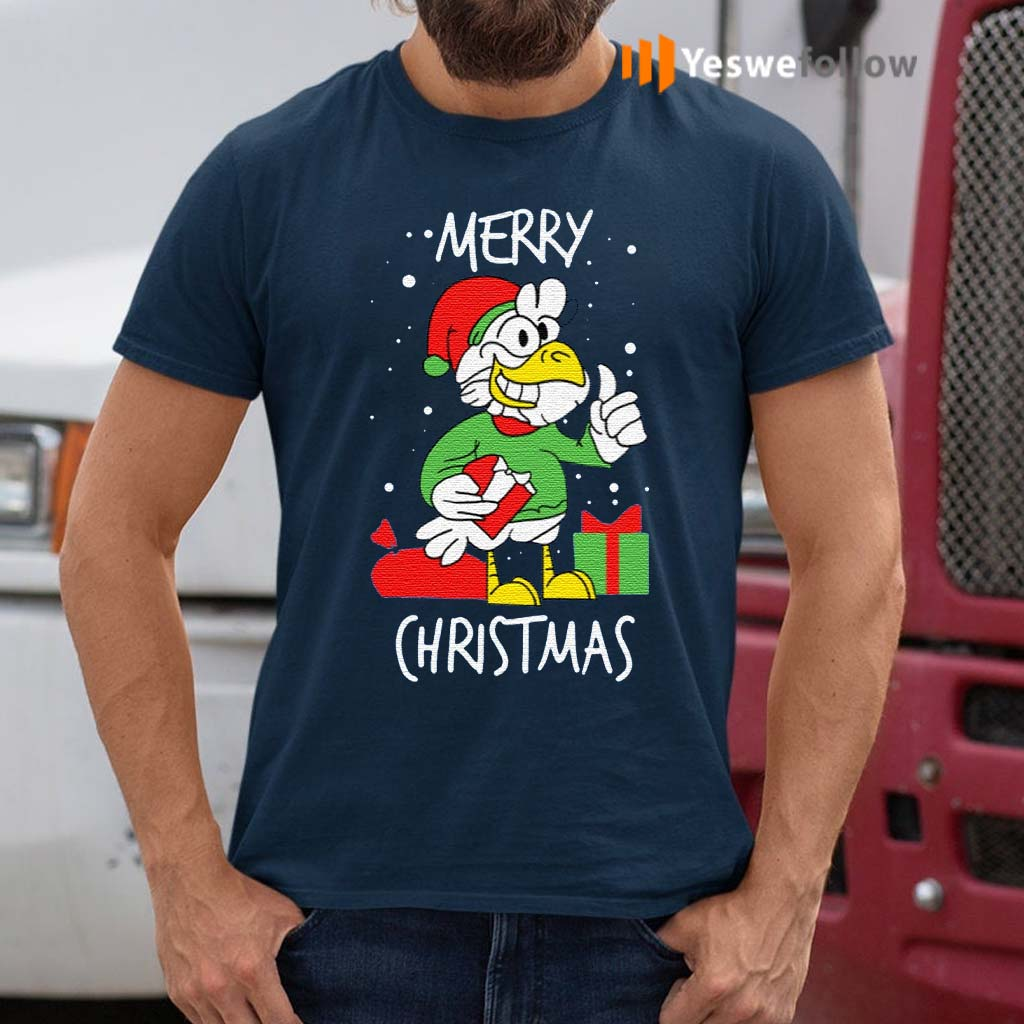 Chicken-Happy-Merry-Christmas-T-Shirts