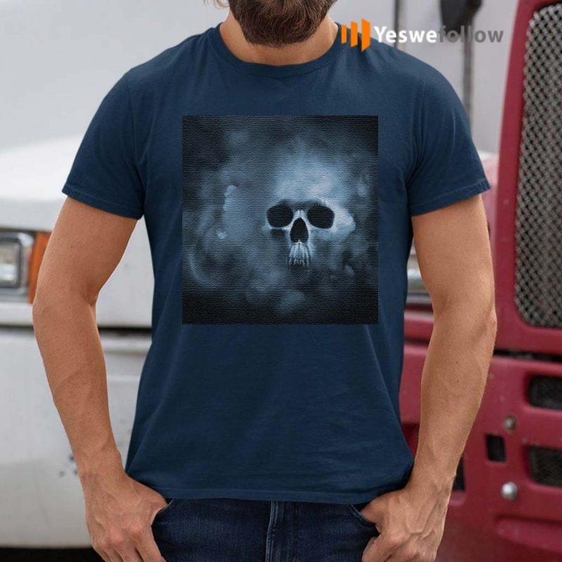 Cloudy-Skull-Classic-T-Shirts