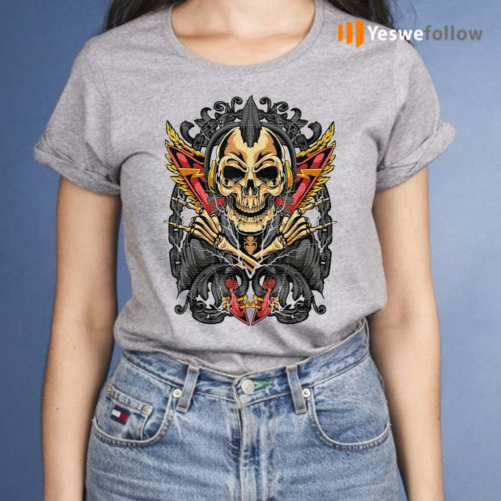Goth-Rock-Skull-Rocker-Horror-T-Shirts
