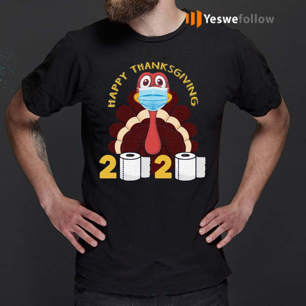 Happy-Thanksgiving-2020-Turkey-Face-Mask-Funny-Quarantine-Gift-T-Shirts