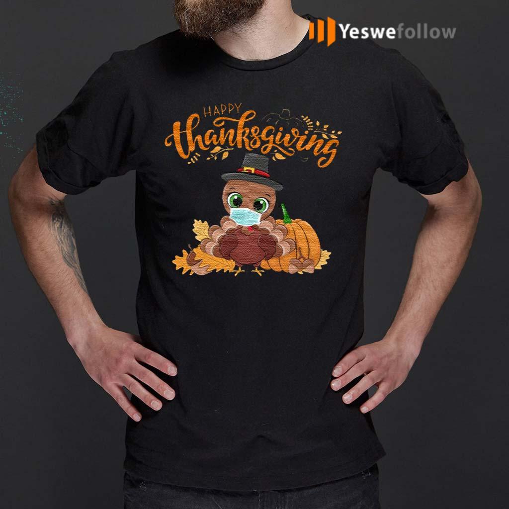 Happy-Thanksgiving-T-Shirt-–-Turkey-Wearing-Face-Mask-T-Shirt