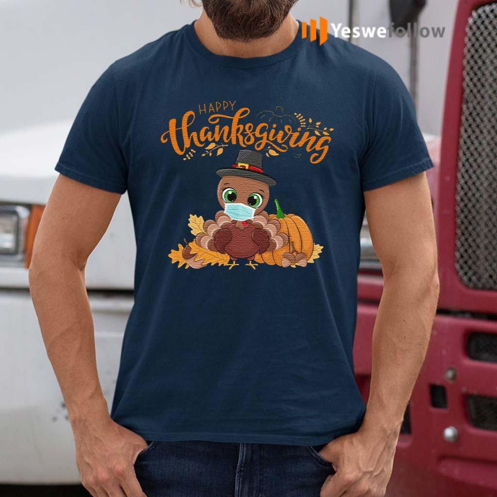 Happy-Thanksgiving-T-Shirt-–-Turkey-Wearing-Face-Mask-T-Shirts