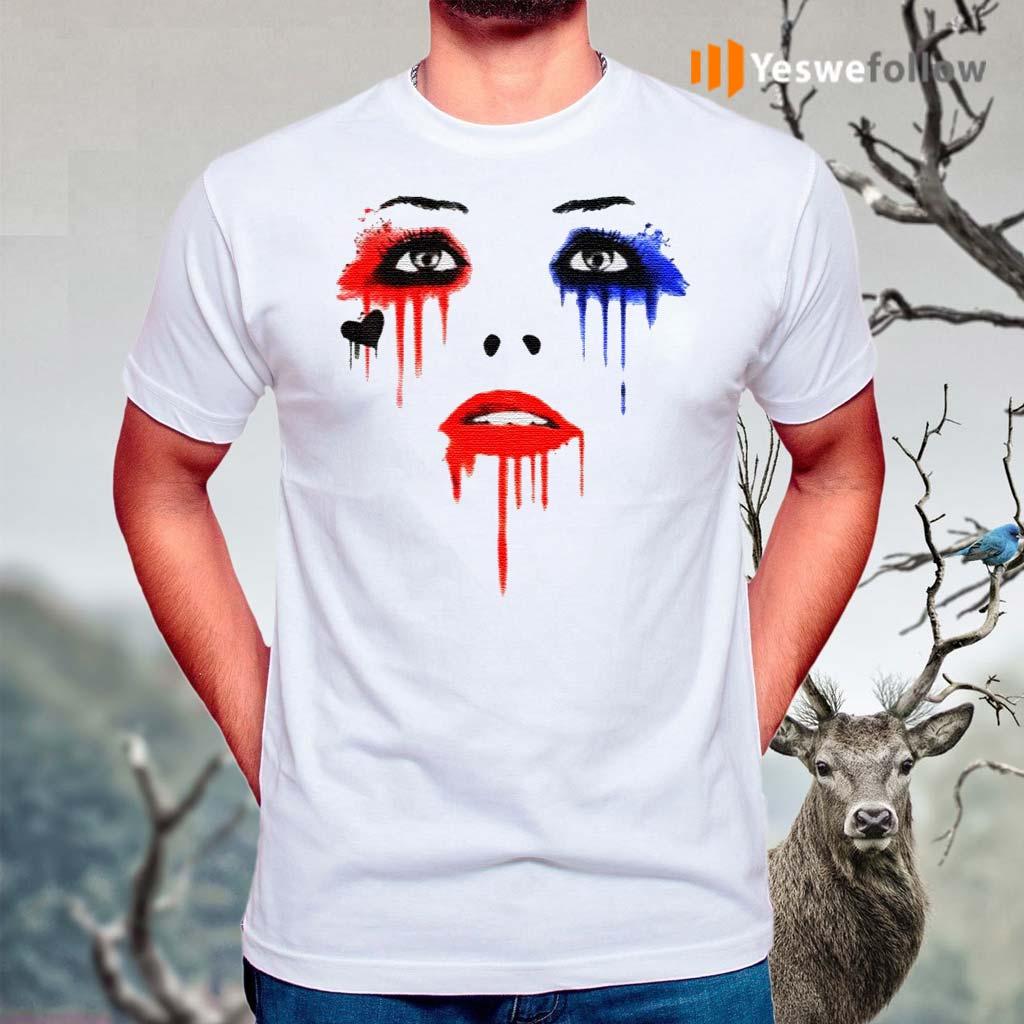 Harley-Quinn-Face-Tee-Shirts
