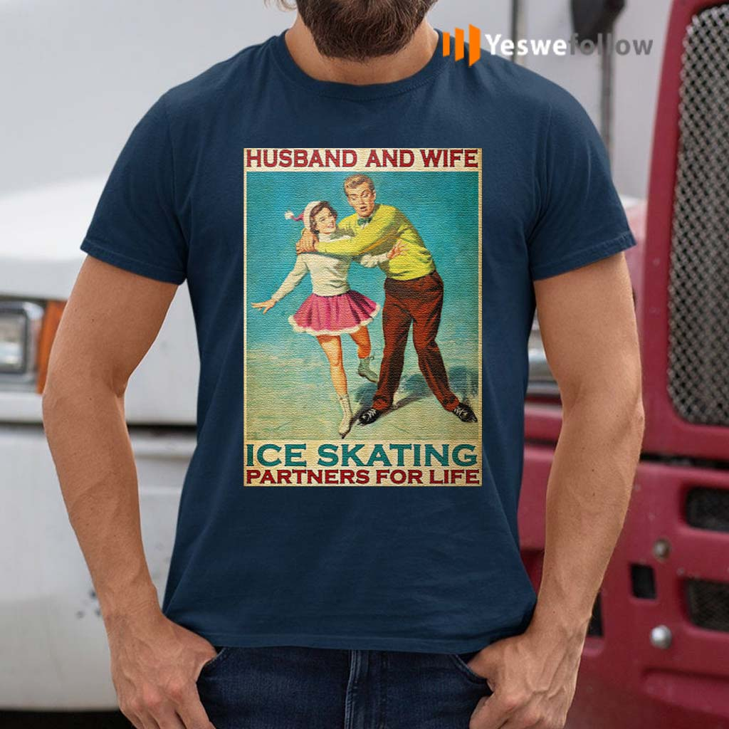 Husband-and-wife-ice-skating-partners-for-life-t-shirts
